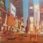 City_Lights_Namezbek_Chekirov_Oil_on_canvas_100cm_100cm