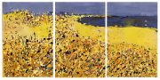 Sharon Withers Beach View Triptych abstract seascape for sale