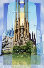 Les Matthews Barcelona Spanish city artwork for sale