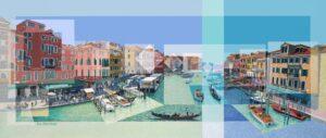 Les Matthews Grand Canal Venice unframed art print for sale