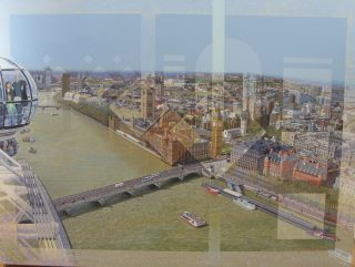 Les Matthews The Thames From The Eye london art for sale