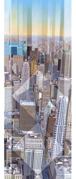 Les Matthews Empire State Building South New York art print for sale