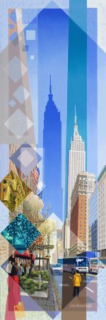 Les Matthews Xmas New York american city art print for sale