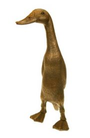 Suzie Marsh Buzz The Duck bronze animal sculpture for sale animal lovers