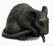 Suzie Marsh Topalino bronze resin mouse sculpture for sale