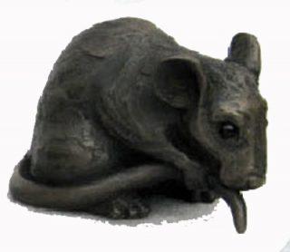Suzie Marsh Topalino bronze resin mouse sculpture for sale