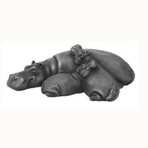 Suzie Marsh Hippo Wallow Wildlife Animal Art Sculpture for sale