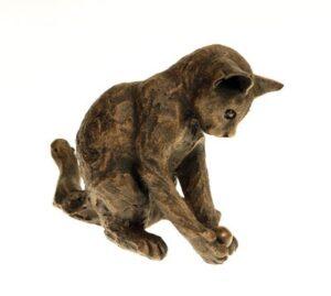 Suzie Marsh William Playing Kitten bronze cat sculpture for sale