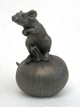 Suzie Marsh Tom on Pumpkin bronze mouse sculpture for sale