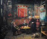 Shen Ming Cun A New Day Begins, Yi Tribe painting for sale