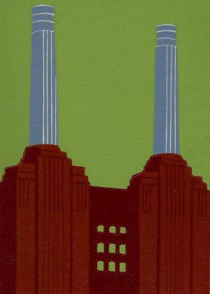 Jennie Ing Battersea Power Station Carmine London Art for sale
