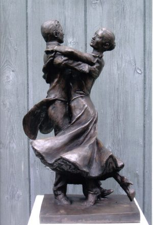 Malcolm West Smooth Penguin bronze sculpture for sale