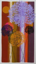 Tessa Pearson Long Ginger Allium colourful art print for sale