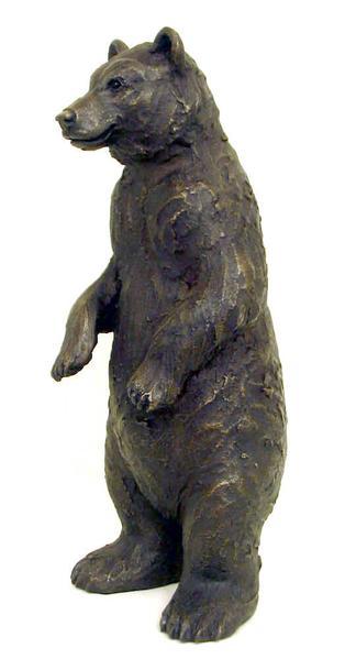 Suzie Marsh Henry Bear bronze wild animal sculpture for sale