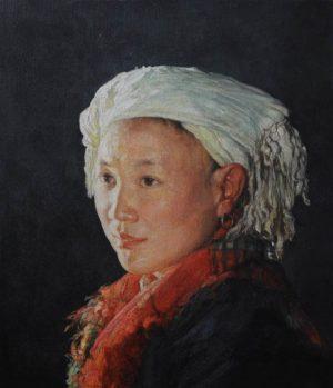 Shen Ming Cun The Tasselled Headscarf, Yao Tribe art