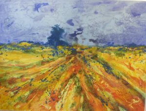 Sharon Withers Summer Harvest abstract painting for sale