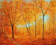 Chris Bourne Autumn III orange woodland landscape