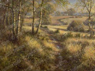 David Dipnall Autumn Sunlight traditional landscape painting