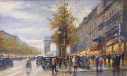 Janie Meyer L'Arc Du Triomphe original paris painting for sale