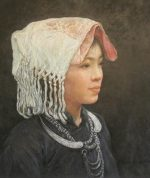 Shen Ming Cun White Tasselled Headdress Zhang Tribe
