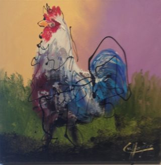 Caspar Van Houten Chicken II bold animal art for sale