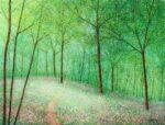 Chris Bourne Through The Birches original forest art for sale