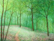 Chris Bourne Through The Birches original forest art for sale