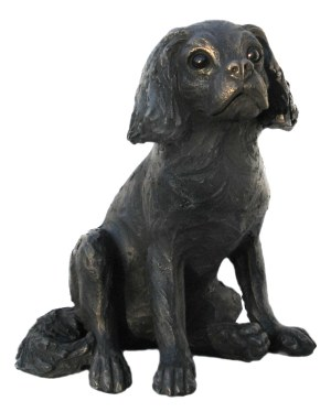 Suzie Marsh Olly bronze spaniel dog sculpture for sale