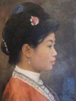 Shen Ming Cun Silver Accessories profile portrait art for sale