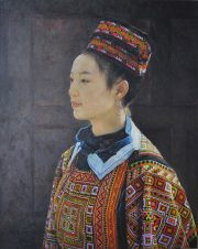 Shen Ming Cun Tapestry Hat & Coat, Miao Tribe realistic artwork for sale