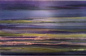 Sharon Withers Skyline Sri Lanka abstract landscape for sale