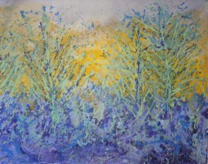 Sharon Withers Winter Light frosty landscape painting for sale