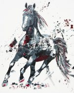 Penny Warden Arena dynamic horse oil painting for sale