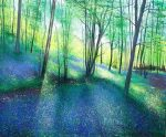 John Connolly Springtime Bluebells spring forest painting for sale