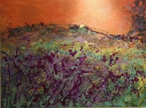 Sharon Withers Dawn Rising sunrise oil painting for sale