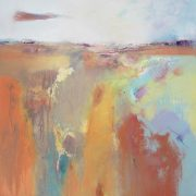Andrew Kinmont 'Tangerine Summer' Subtle Abstract Art