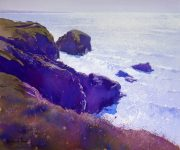 Richard Thorn Bedruthan Steps cornwall painting for sale