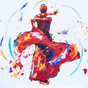 Penny Warden Spangle flamenco dancer oil painting for sale