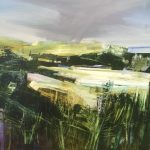 Celia Wilkinson Fresh Air abstract green landscape art for sale
