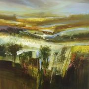 Celia Wilkinson 'Infinite' Muted Landscape Painting for sale