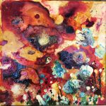 LIz Spooner Flower Box II floral abstract art object for sale