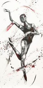 Penny Warden Intrigue abstract ballerina painting for sale