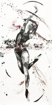 Penny Warden Ornate contemporary ballerina painting for sale