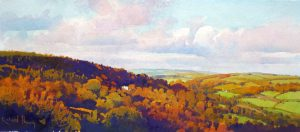 Richard Thorn Autumn Valley landscape painting for sale