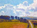 Richard Thorn The Road To Princetown devon painting for sale