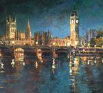 John Hammond Westminster Lights london painting for sale
