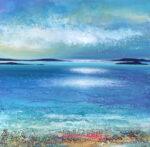 blue cornish coast painting