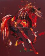 Penny Warden Glory dynamic abstract horse painting for sale