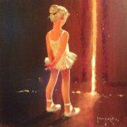 John Haskins Solo Performance ballerina girl painting for sale