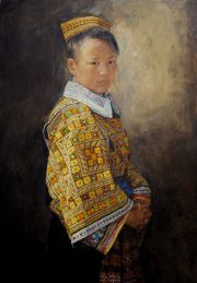 Shen Ming Cun Honour & Respect Miao Tribe painting for sale